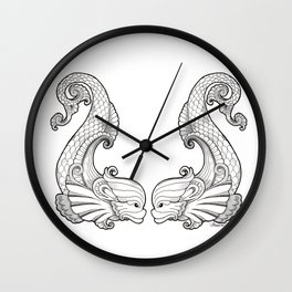 Dive Deep - Black and White Wall Clock