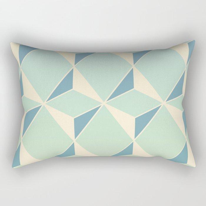 Triangles amd Squares X Rectangular Pillow