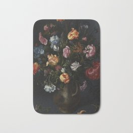Jacob Vosmaer - A Vase with Flowers Bath Mat