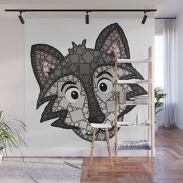 Howl You Doin'? - Cute Wolf - Puppy - 57 Montgomery Ave Wall Mural