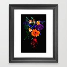 Colorful Floral Bouquet Framed Art Print