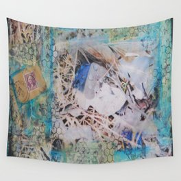 Feathers Mixed Media Wall Tapestry