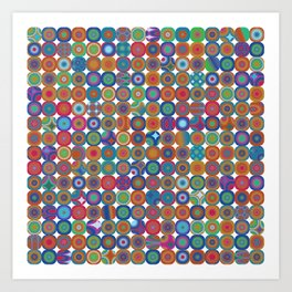 BORG BLOCKS 3 Art Print