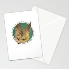 fox and mask  Stationery Cards