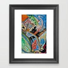 abstract monster face Framed Art Print