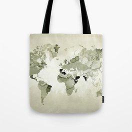 Design 123 World Map Tote Bag