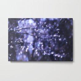 Sparkling Drops Metal Print