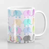equality Mugs featuring Equality Elephants by Jessica Latham