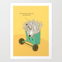 french fries Art Prints featuring French fries by BIGMOUTH