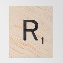 Scrabble Letter R - Large Scrabble Tiles Throw Blanket