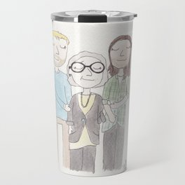 Becca and her brother and her brother's boyfriend Travel Mug