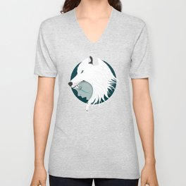 Boy Cries Wolf (White) Unisex V-Neck