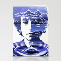dylan Stationery Cards featuring Dylan by Alex Carlson