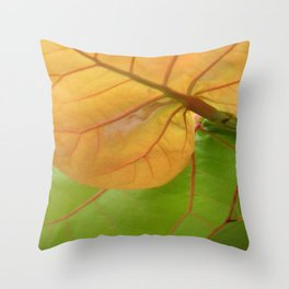 Sea Grape Leaves Throw Pillow