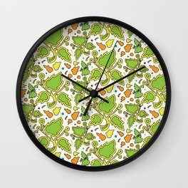 Fresh Leaves Wall Clock