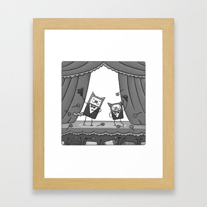 BRAVISSIMO CAT'N'BAT Framed Art Print