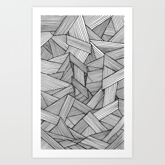 Straight Line Art Name : Straight lines art print by david stanfield society