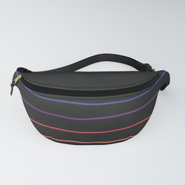 Abstract Retro Stripes #4 Fanny Pack