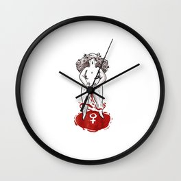 Feminist Blood Witch Wall Clock