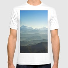 Hima - Layers White MEDIUM Mens Fitted Tee