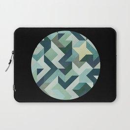 circle geometry (Black Background) Laptop Sleeve