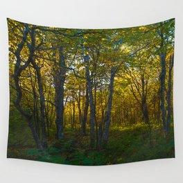 Yellow Trees Wall Tapestry