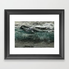 wave forming Framed Art Print