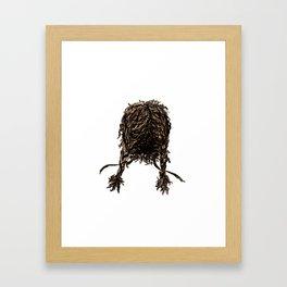 Messy dry curly hair 4 Framed Art Print