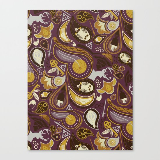 Potter Paisley Canvas Print