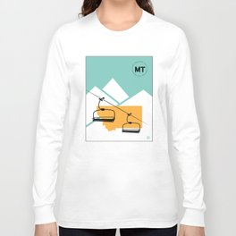 Skiing in Montana Long Sleeve T-shirt