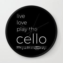 Live, love, play the cello (dark colors) Wall Clock