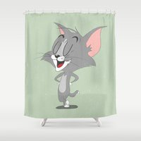 tom hiddleston Shower Curtains featuring Tom by Rod Perich
