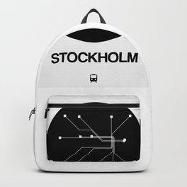 Stockholm Black Subway Map Backpack
