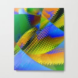 Daily Design 96 - Slowly Sinking Your Teeth Into A Pineapple Chunk Metal Print