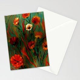 Fiery Wildflowers Stationery Cards