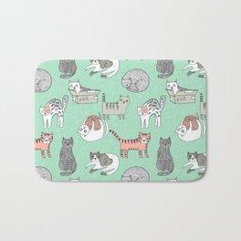 Cat pattern cute nursery cat lady kittens by andrea lauren Bath Mat