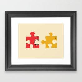 Puzzle Monster Framed Art Print