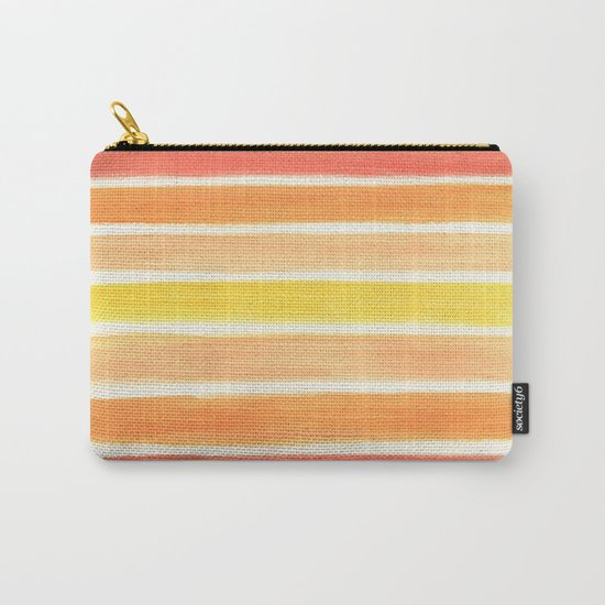 Orange Striped Abstract Carry-All Pouch