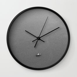 Lonely fisherman Wall Clock