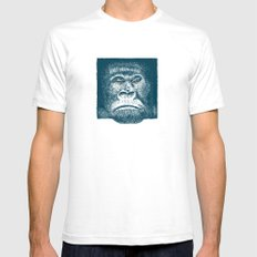 Gorilla White SMALL Mens Fitted Tee