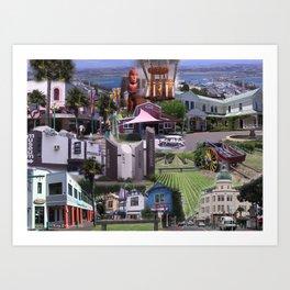 A Napier Collage Art Print