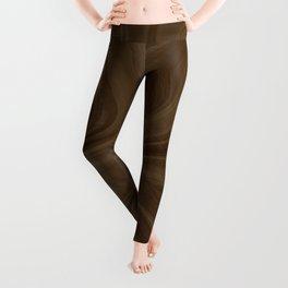 Chocolate Brown Swirl Leggings