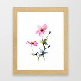 Japanese anemones Framed Art Print
