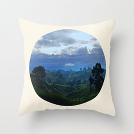 Rolling Hills Circle Photo Frame Throw Pillow