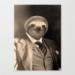 Gentleman Sloth with Monocle Canvas Print