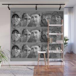 WARNER DRIVE portraits - black Wall Mural