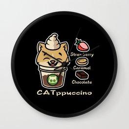 Cat ppucino Wall Clock