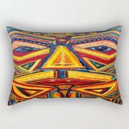 Warrior mask Rectangular Pillow