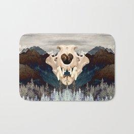 Rocky Mountain Bear Skull Bath Mat
