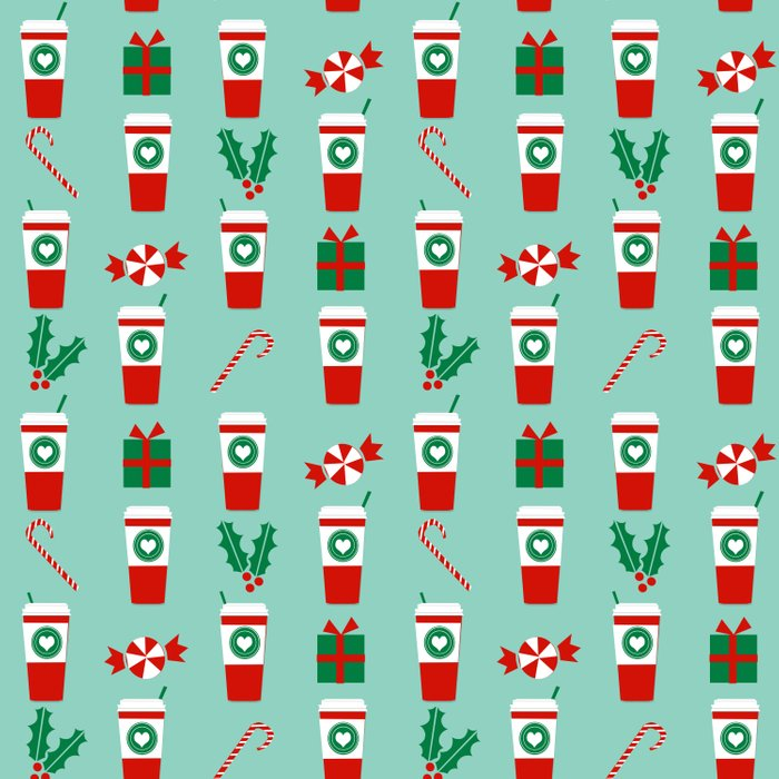 peppermint latte mint gender neutral coffee lovers gift for christmas food traditions to remember duvet cover - Gender Neutral Christmas Gifts